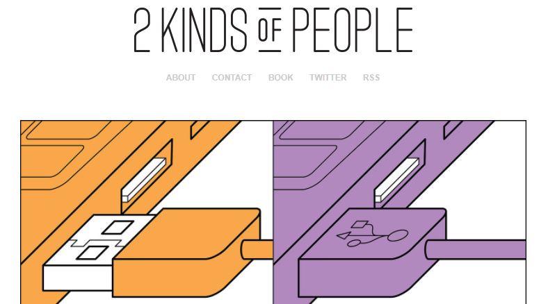 2 Kinds of people...插畫家João Rocha筆下的幽默二分法