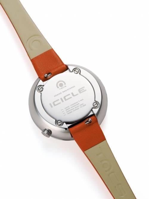 真皮錶帶-冰芯 ICICLE-熱情艷橘
