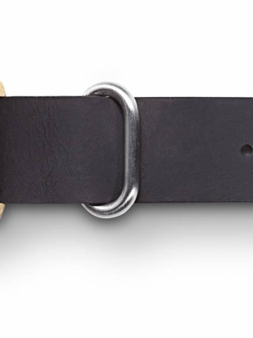 黑色真皮錶帶-璞NATURE(L)橡木黃款