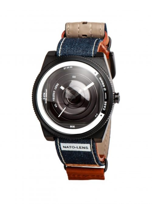 丹寧真皮錶帶-鏡頭在手 北約限定款 NATO-LENS-桀驁藍