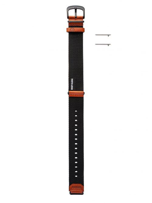 黑橘帆布錶帶-鏡頭在手 北約限定款 NATO-LENS-戰地橘