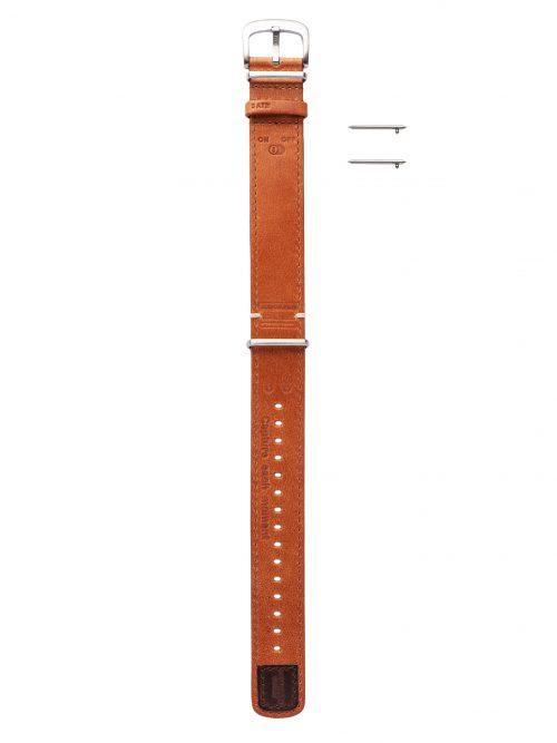 黃褐真皮錶帶-鏡頭在手 北約限定款 NATO-LENS-無羈褐