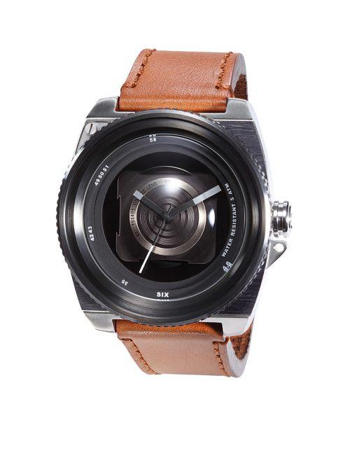 淺棕真皮錶帶-鏡頭在手復刻典藏版Vintage Lens-沈穩負片赭