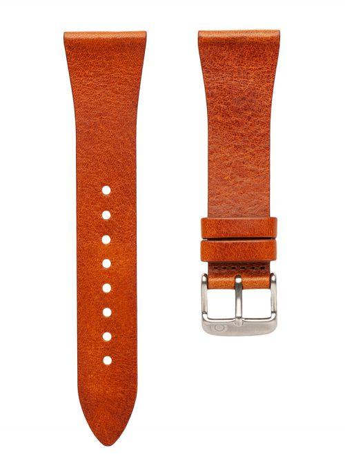 淺棕真皮錶帶-玩味點.線-面# PLP2-爍白衛星款