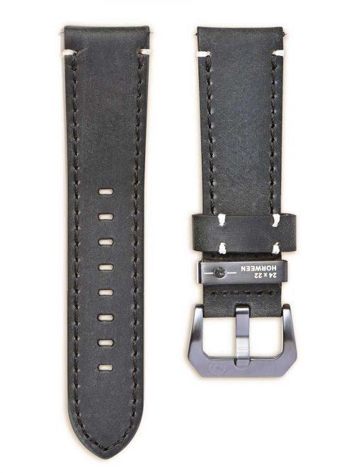 碳古黑真皮錶帶-鏡頭在手 機械限量款 碳古銀版 AVL2 Antique Silver