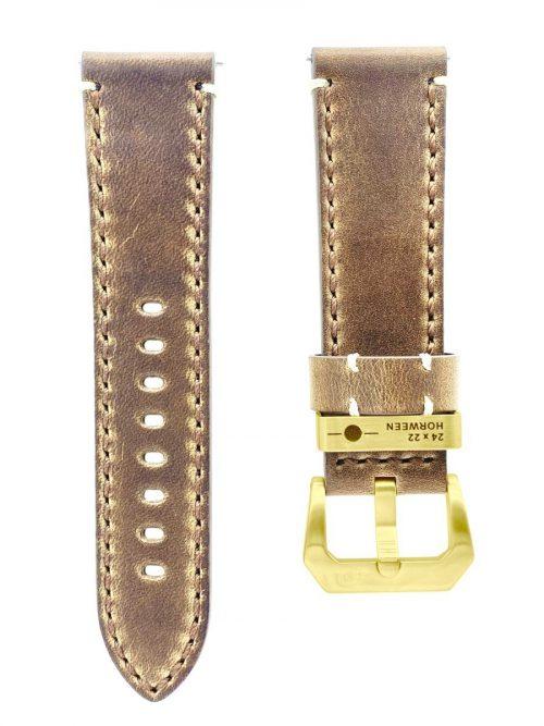 古駝色真皮錶帶-鏡頭在手 機械限量款 黃金時刻版AVL2 Golden Hour